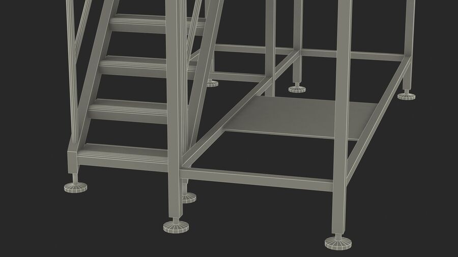 Rooftop Access Platform royalty-free 3d model - Preview no. 26