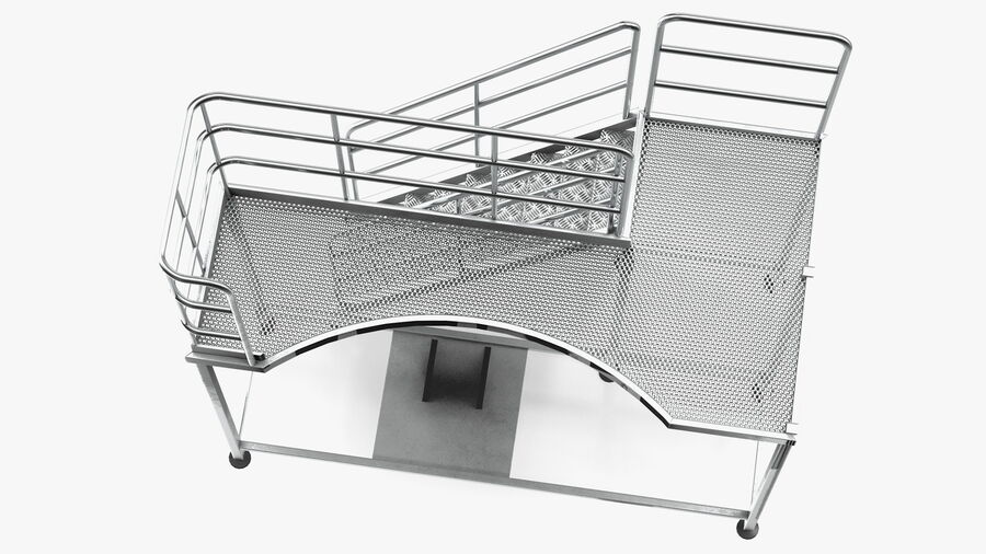 Rooftop Access Platform royalty-free 3d model - Preview no. 10