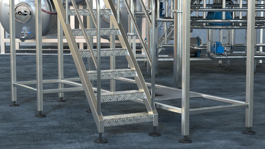 Rooftop Access Platform royalty-free 3d model - Preview no. 6