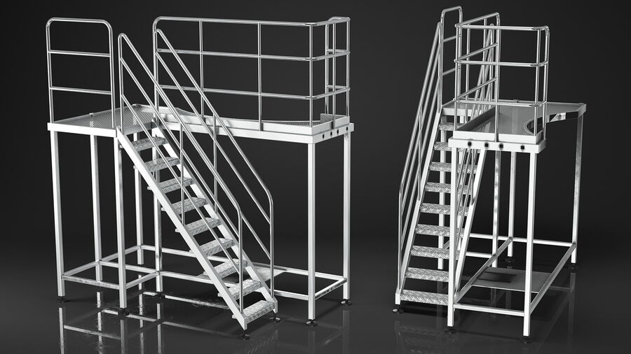 Rooftop Access Platform royalty-free 3d model - Preview no. 7