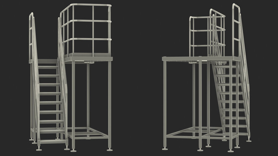 Rooftop Access Platform royalty-free 3d model - Preview no. 23