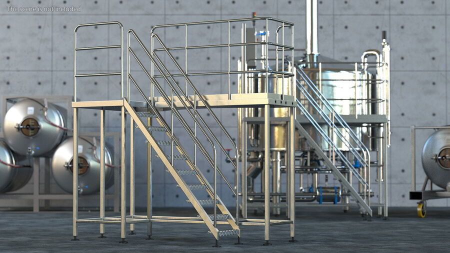 Rooftop Access Platform royalty-free 3d model - Preview no. 3