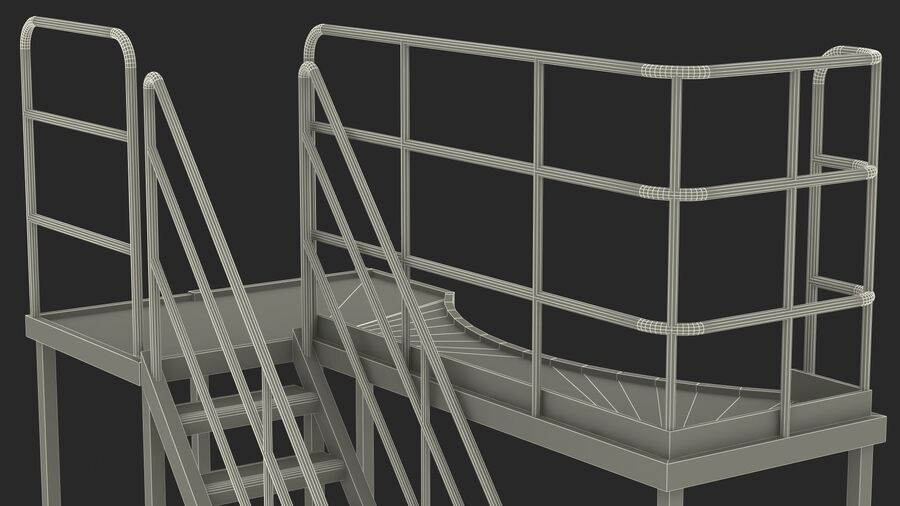Rooftop Access Platform royalty-free 3d model - Preview no. 25