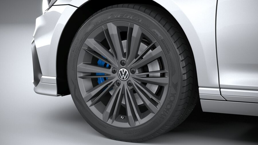 Volkswagen Passat Variant GTE 2020 royalty-free 3d model - Preview no. 17