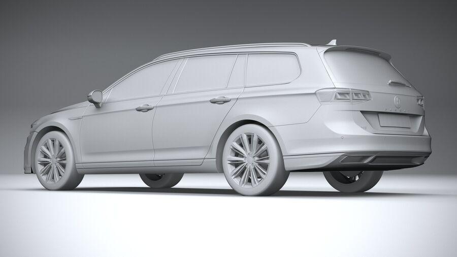 Volkswagen Passat Variant GTE 2020 royalty-free 3d model - Preview no. 22