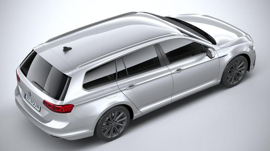 Volkswagen Passat Variant GTE 2020 royalty-free 3d model - Preview no. 11