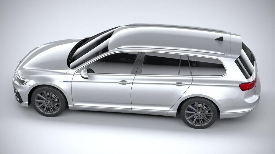 Volkswagen Passat Variant GTE 2020 royalty-free 3d model - Preview no. 10