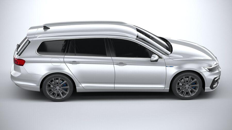 Volkswagen Passat Variant GTE 2020 royalty-free 3d model - Preview no. 12