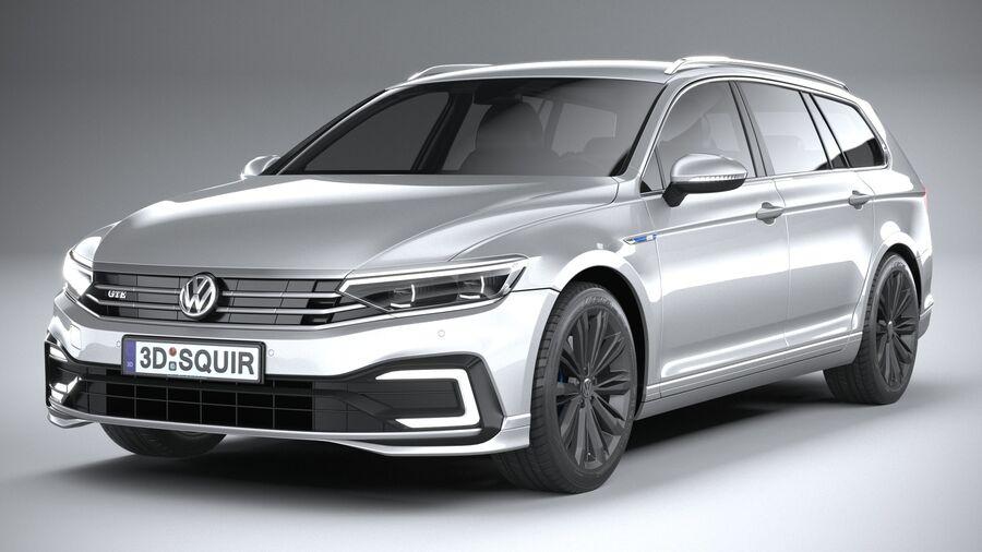 Volkswagen Passat Variant GTE 2020 royalty-free 3d model - Preview no. 3