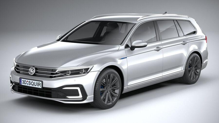 Volkswagen Passat Variant GTE 2020 royalty-free 3d model - Preview no. 2