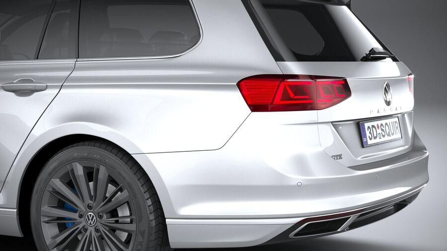 Volkswagen Passat Variant GTE 2020 royalty-free 3d model - Preview no. 7