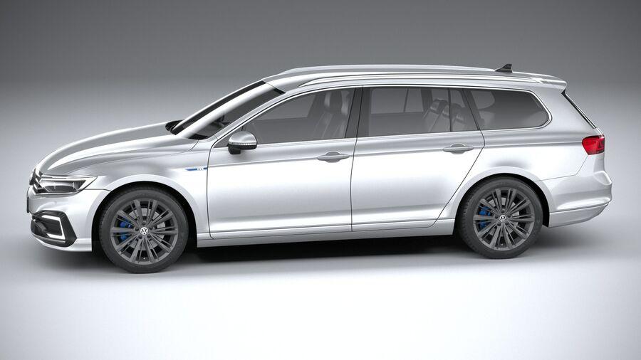 Volkswagen Passat Variant GTE 2020 royalty-free 3d model - Preview no. 9