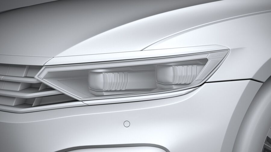 Volkswagen Passat Variant GTE 2020 royalty-free 3d model - Preview no. 24