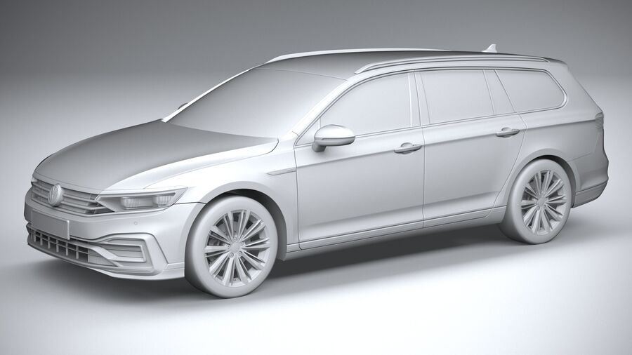 Volkswagen Passat Variant GTE 2020 royalty-free 3d model - Preview no. 20