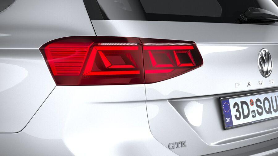 Volkswagen Passat Variant GTE 2020 royalty-free 3d model - Preview no. 16
