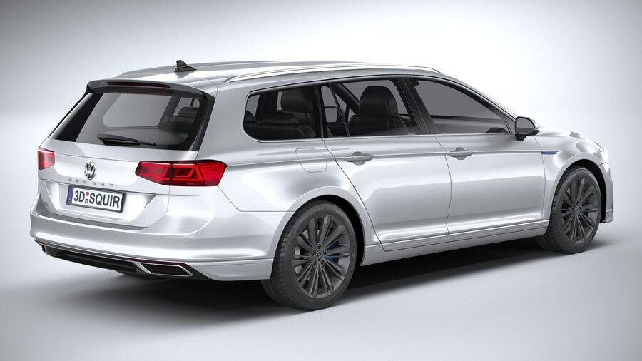 Volkswagen Passat Variant GTE 2020 royalty-free 3d model - Preview no. 18