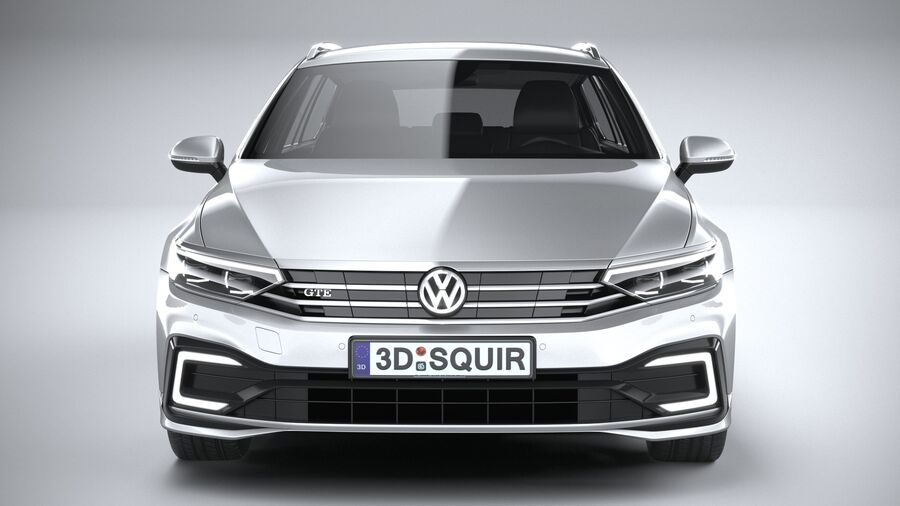 Volkswagen Passat Variant GTE 2020 royalty-free 3d model - Preview no. 14