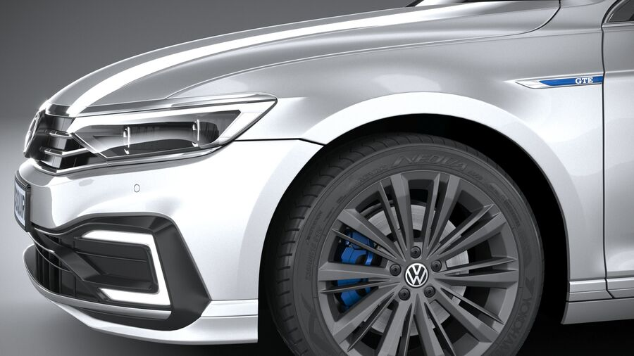 Volkswagen Passat Variant GTE 2020 royalty-free 3d model - Preview no. 4