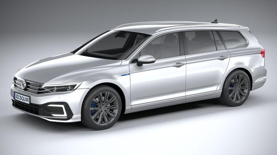 Volkswagen Passat Variant GTE 2020 royalty-free 3d model - Preview no. 1