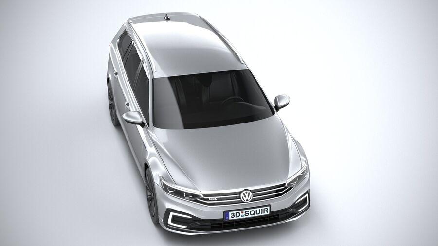 Volkswagen Passat Variant GTE 2020 royalty-free 3d model - Preview no. 13
