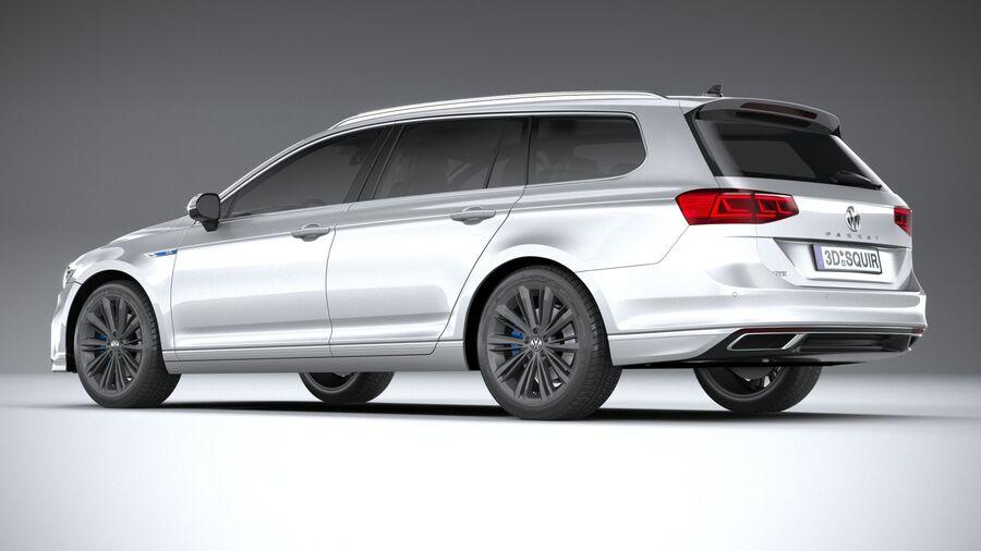 Volkswagen Passat Variant GTE 2020 royalty-free 3d model - Preview no. 6