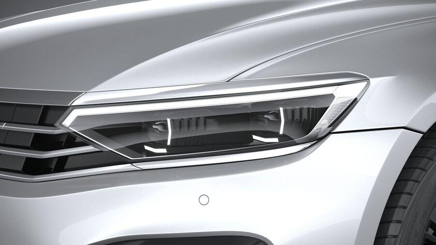 Volkswagen Passat Variant GTE 2020 royalty-free 3d model - Preview no. 15
