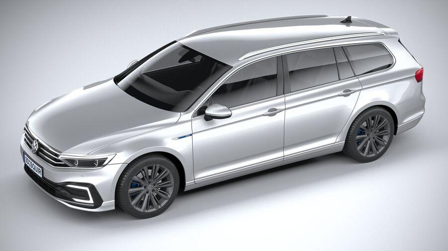 Volkswagen Passat Variant GTE 2020 royalty-free 3d model - Preview no. 8