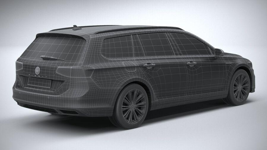 Volkswagen Passat Variant GTE 2020 royalty-free 3d model - Preview no. 30