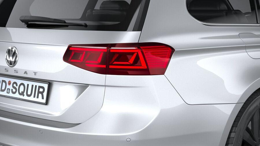 Volkswagen Passat Variant GTE 2020 royalty-free 3d model - Preview no. 19