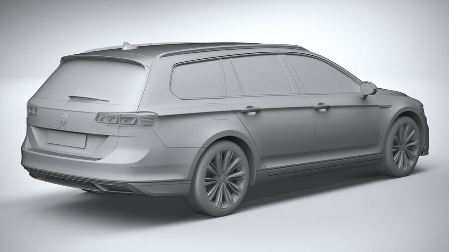 Volkswagen Passat Variant GTE 2020 royalty-free 3d model - Preview no. 26