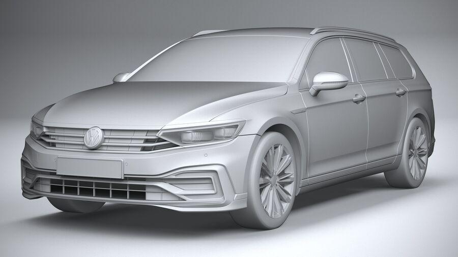 Volkswagen Passat Variant GTE 2020 royalty-free 3d model - Preview no. 21