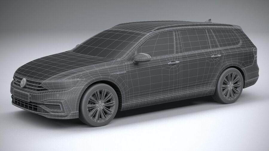 Volkswagen Passat Variant GTE 2020 royalty-free 3d model - Preview no. 29