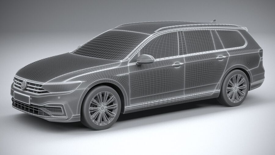 Volkswagen Passat Variant GTE 2020 royalty-free 3d model - Preview no. 27