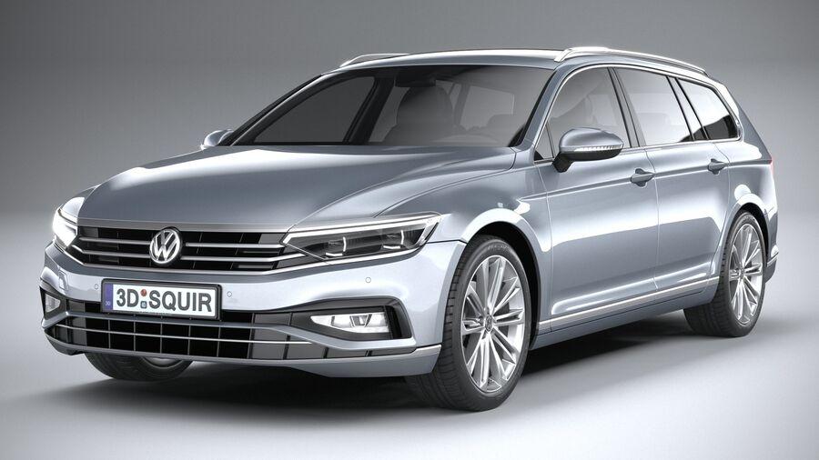 Volkswagen Passat Variant 2020 royalty-free 3d model - Preview no. 3