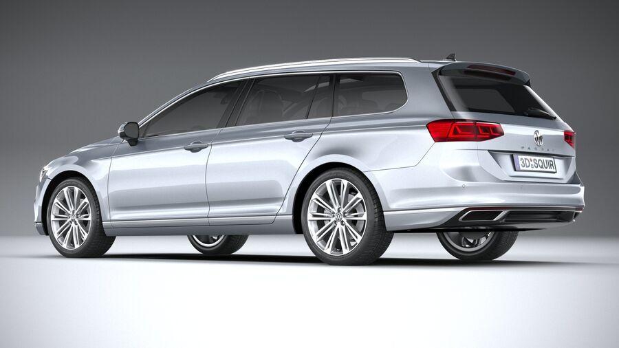 Volkswagen Passat Variant 2020 royalty-free 3d model - Preview no. 6