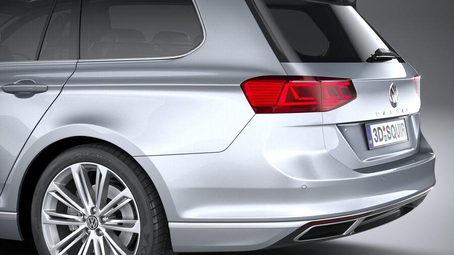 Volkswagen Passat Variant 2020 royalty-free 3d model - Preview no. 7