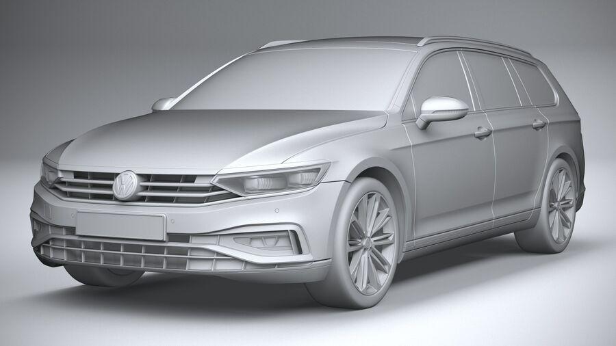 Volkswagen Passat Variant 2020 royalty-free 3d model - Preview no. 21
