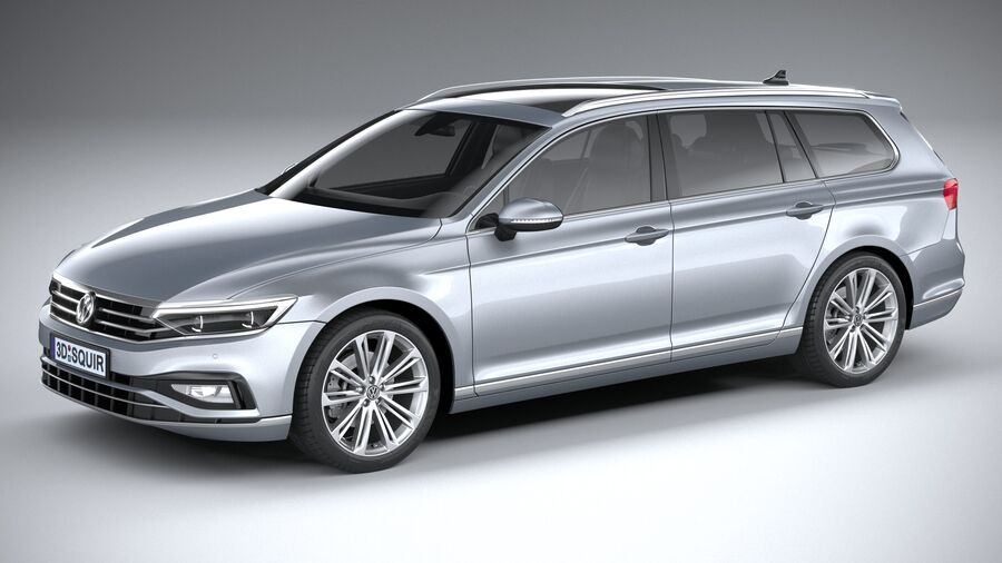 Volkswagen Passat Variant 2020 royalty-free 3d model - Preview no. 1
