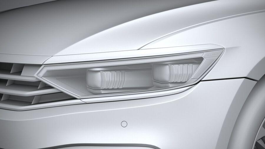 Volkswagen Passat Variant 2020 royalty-free 3d model - Preview no. 24