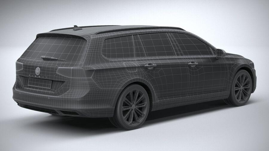 Volkswagen Passat Variant 2020 royalty-free 3d model - Preview no. 30