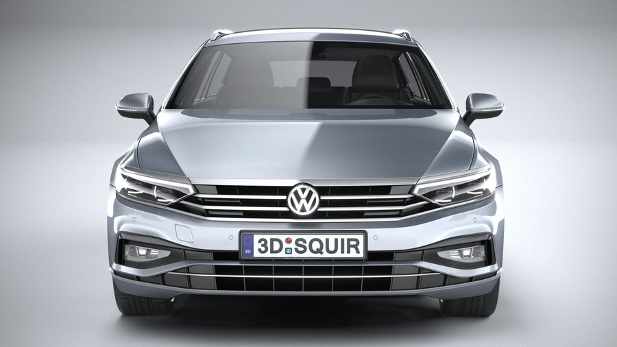 Volkswagen Passat Variant 2020 royalty-free 3d model - Preview no. 14