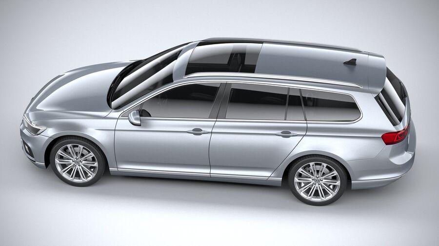 Volkswagen Passat Variant 2020 royalty-free 3d model - Preview no. 10