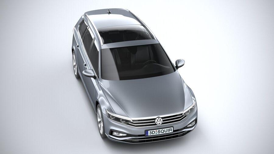 Volkswagen Passat Variant 2020 royalty-free 3d model - Preview no. 13