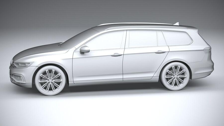 Volkswagen Passat Variant 2020 royalty-free 3d model - Preview no. 23