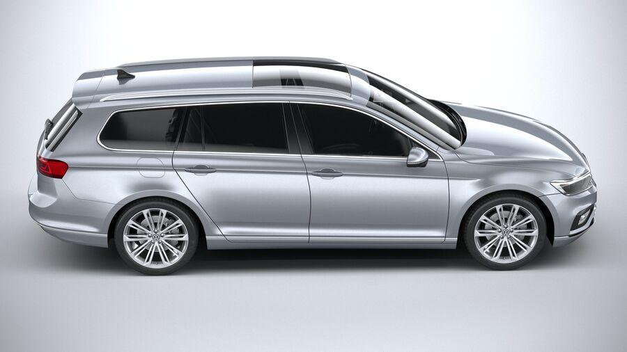 Volkswagen Passat Variant 2020 royalty-free 3d model - Preview no. 12