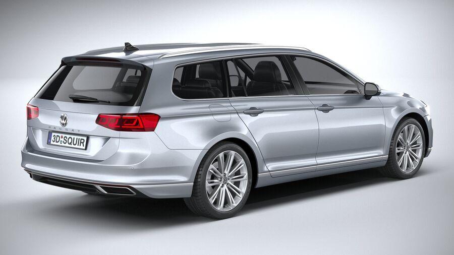 Volkswagen Passat Variant 2020 royalty-free 3d model - Preview no. 18