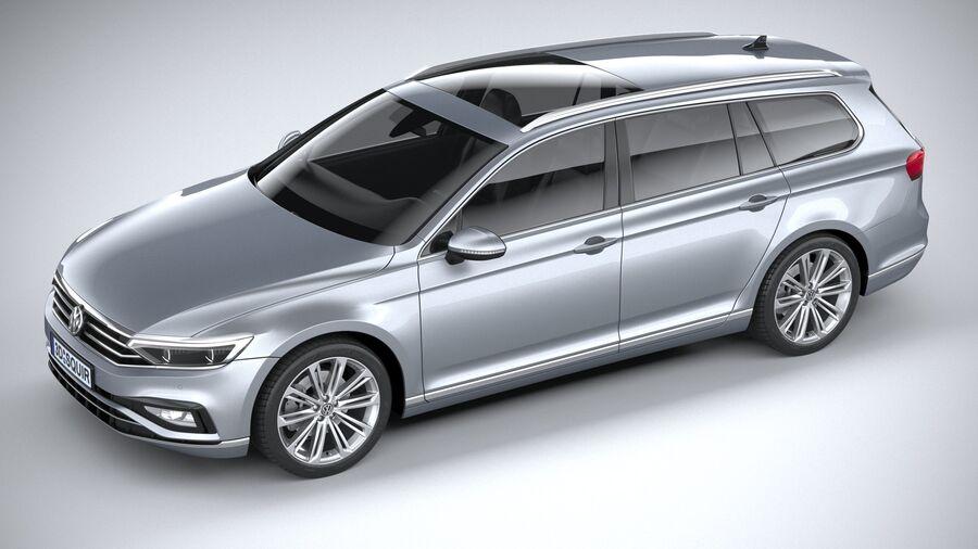 Volkswagen Passat Variant 2020 royalty-free 3d model - Preview no. 8
