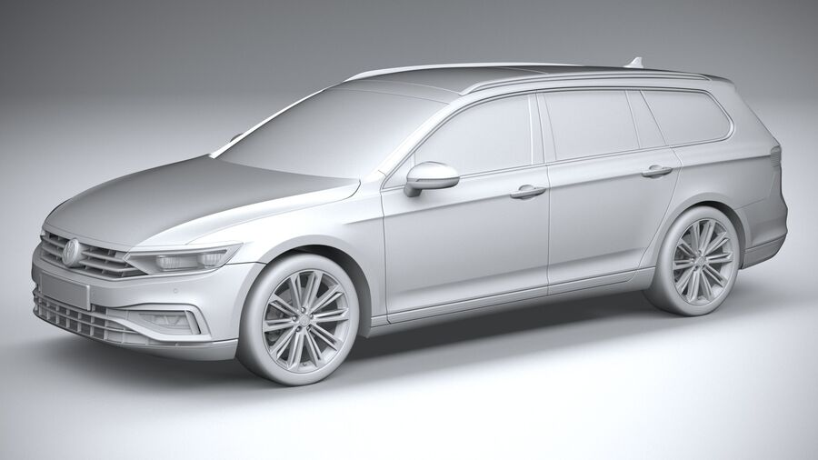 Volkswagen Passat Variant 2020 royalty-free 3d model - Preview no. 20