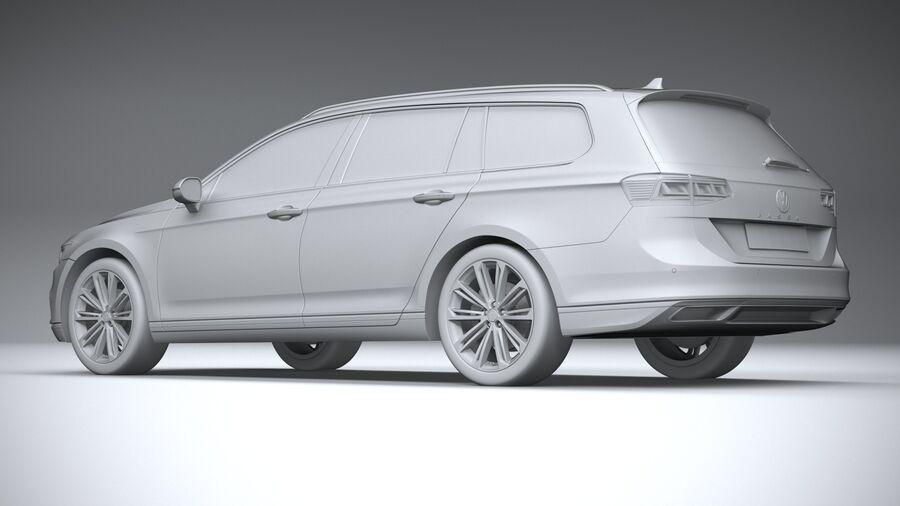 Volkswagen Passat Variant 2020 royalty-free 3d model - Preview no. 22