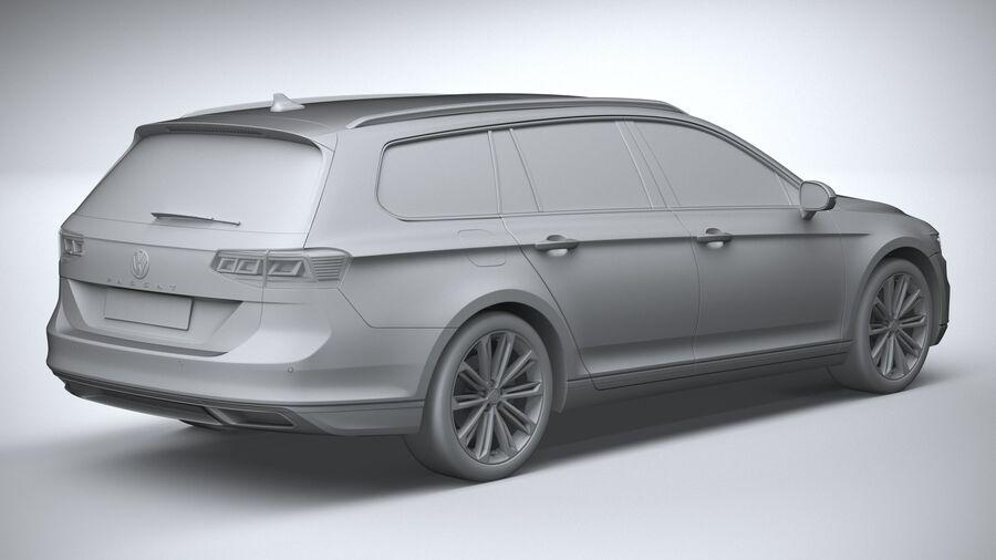 Volkswagen Passat Variant 2020 royalty-free 3d model - Preview no. 26